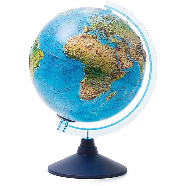 Глобус Земли Globen ландшафтный рельефный с подсветкой, 250ммГлобусы<br>Характеристики товара:<br><br>• возраст: от 6 лет;<br>• подсветка: от батареек (нет в комплекте);<br>• из чего сделана игрушка (состав): пластик;<br>• диаметр: 25 см.;<br>• cерия Классик Евро;<br>• размер упаковки: 26х26х27,5 см.;<br>• вес: 900 гр.;<br>• упаковка: цветная картонная коробка.<br><br>Ландшафтный глобус изготовлен из высококачественного и прочного пластика. Данная модель предназначена для ознакомления с особенностями ландшафта нашей планеты. <br><br>Глобус дает представление о местоположении материков и океанов, на нем можно рассмотреть особенности ландшафта Земли. <br><br>На данной модели нанесены направления и названия водных течений. Модель имеет рельефную выпуклую поверхность, что, в свою очередь, делает глобус особенно интересным для детей младшего школьного возраста. <br><br>Изделие расположено на пластиковой подставке. <br>Для работы глобуса требуются батарейки АА пальчиковые, 2 шт., в комплект не входят.<br><br>Глобус Globen Земли ландшафтный с подсветкой можно купить в нашем интернет-магазине.<br>Ширина мм: 260; Глубина мм: 260; Высота мм: 275; Вес г: 900; Цвет: разноцветный; Возраст от месяцев: 72; Возраст до месяцев: 2147483647; Пол: Унисекс; Возраст: Детский; SKU: 8075107;