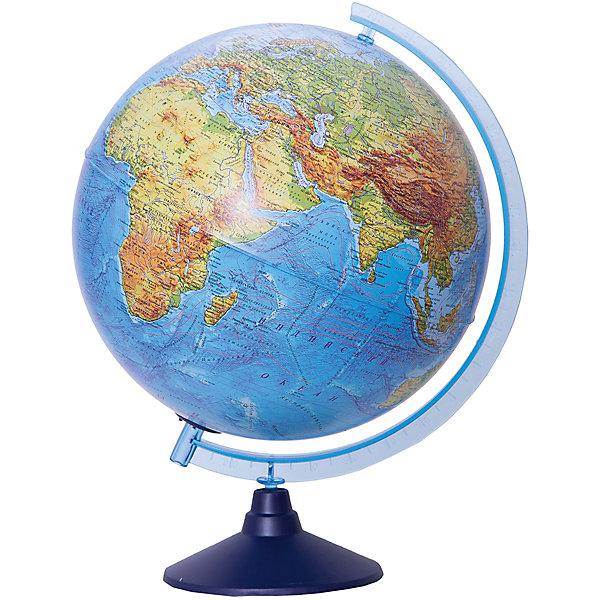 Глобус Земли Globen физико-политический с подсветкой, 320ммГлобусы<br>Характеристики товара:<br><br>• возраст: от 6 лет;<br>• подсветка: от батареек (нет в комплекте);<br>• из чего сделана игрушка (состав): пластик;<br>• диаметр: 32 см.;<br>• серия: Классик Евро<br>• размер упаковки: 32,1х32,1х34,5 см.;<br>• вес: 1,1 кг.;<br>• упаковка: цветная картонная коробка.<br><br>Физико-политический глобус с подсветкой замечательный помощник ребенку для изучения мира.<br><br>Глобус позволяет увидеть реальные размеры стран, тогда как картографические плоские проекции значительно искажают размеры — просто сравните Россию на картах и на глобусе, и вы увидите, что на картах она уж слишком велика. <br><br>Политический глобус это полезный и интересный инвентарь, который никогда не будет лишним.<br>Для работы глобуса требуются батарейки АА пальчиковые, 2 шт., в комплект не входят.<br><br>Глобус Globen Земли физико-политический с подсветкой можно купить в нашем интернет-магазине.<br>Ширина мм: 321; Глубина мм: 321; Высота мм: 345; Вес г: 1100; Цвет: разноцветный; Возраст от месяцев: 72; Возраст до месяцев: 2147483647; Пол: Унисекс; Возраст: Детский; SKU: 8075109;