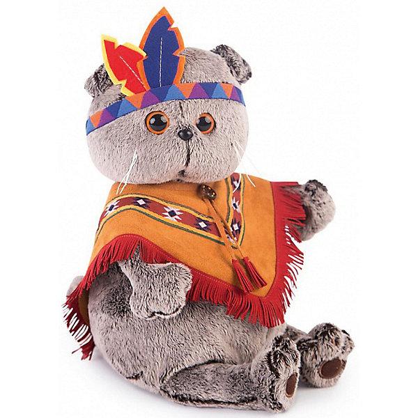 Купить Мягкая игрушка Budi Basa Кот Басик в костюме индейца, 19 см, Россия, коричневый, Унисекс