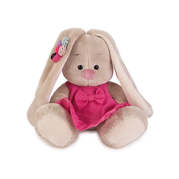 Купить Мягкая игрушка Budi Basa Зайка Ми в розовом сарафанчике и ромашкой на ушке, 15 см, Россия, бежевый, Унисекс