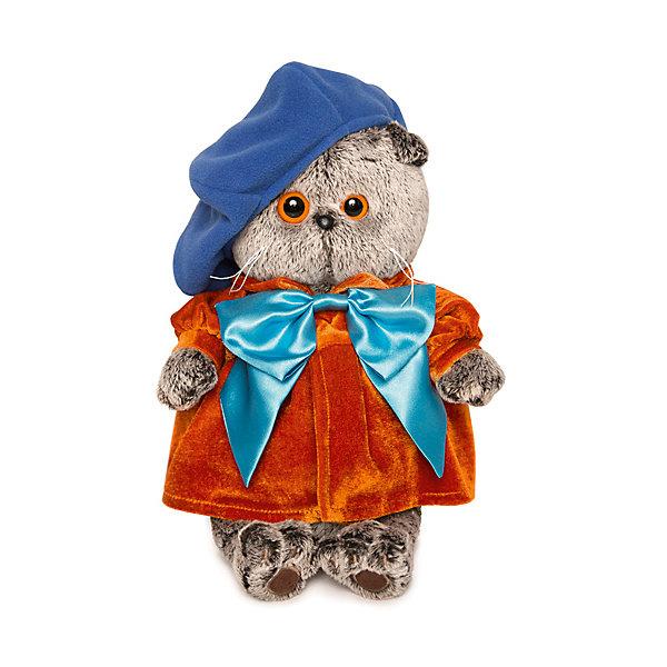 Купить Мягкая игрушка Budi Basa Кот Басик художник, 22 см, Россия, коричневый, Унисекс