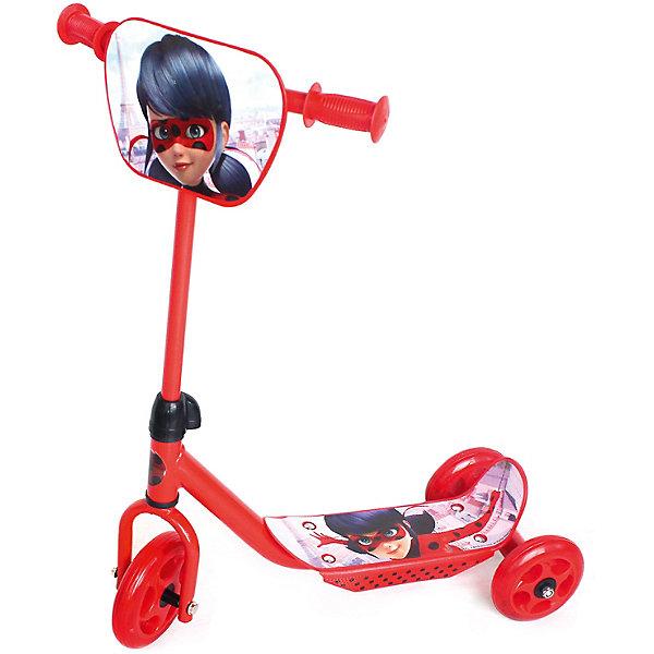 Купить Самокат 3-кол. Леди Баг , колеса пвх 145/120мм., Китай, красный, Унисекс