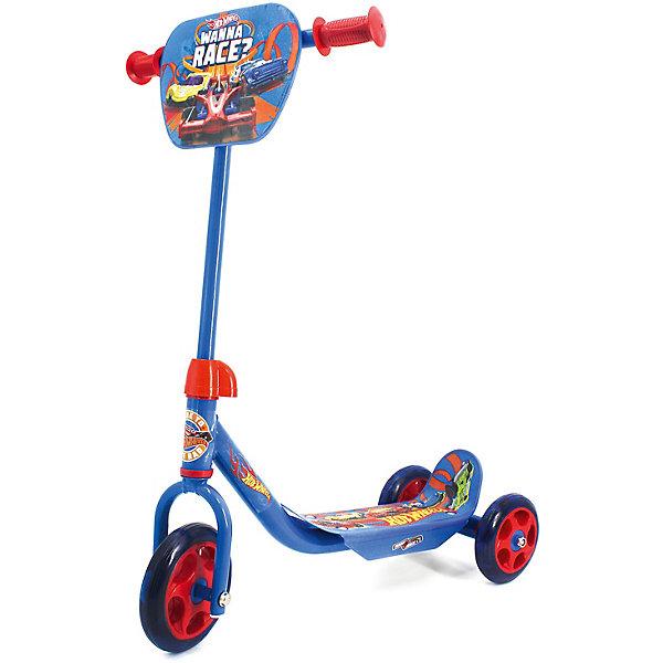 Купить Самокат 3-кол. Hot wheels , колеса пвх 145/120мм., Китай, синий, Унисекс