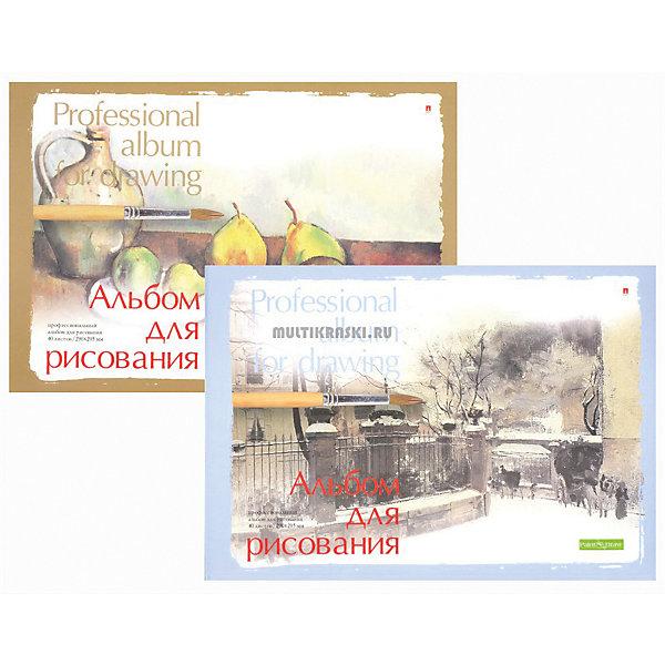 Купить Альбом для рисования Альт Профессиональная на склейке, А5, 40 листов, Россия, разноцветный, Унисекс