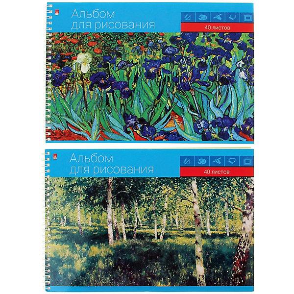 Купить Альбом для рисования Альт Профессиональная на гребне, А5, 40 листов, Россия, разноцветный, Унисекс