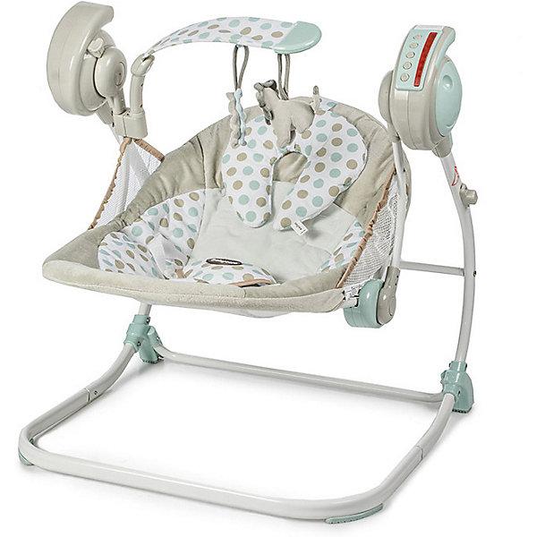 Электрокачели Baby Care Flotter, кремовыеДетские качели для дома<br>Baby Care Flotter - новые стильные электрокачели для новорожденных. Очень мобильная модель предназначена специально для родителей, которые не сидят на месте.Имеется 2 положения спинки. Качели оснащены музыкальным блоком с таймером. Блок проигрывает 16 мелодий c регулировкой громкости. Имеется 5 скоростей укачивания. Электрокачели могут работать как от сети, так и на батарейках. Кроме того, в комплекте съемная дуга с игрушками.Обивка качелей легко снимается для чистки и можно стирать в холодной воде. Для безопасности качели оснащены 5-точечными ремнями. <br>Особенности:·         2 положения спинки·         5-точеные ремни безопасности·         5 скоростей укачивания·         16 мелодий·         регулировка громкости·         таймер·         дуга с игрушками·         обивку сидения можно стирать в холодной воде·         сетевой адаптер в комплекте·         пульт ДУ  <br>Характеристики:·         Размеры в разложенном виде - 59х53х65 см·         Размеры в сложенном виде - 40х11х70 см·         Расстояние от пола до сидения - 19 см·         Размеры сидения - 72х45 см·         Рекомендовано для детей c рождения до 6 месяцев (весом до 12 кг).<br>Ширина мм: 710; Глубина мм: 470; Высота мм: 440; Вес г: 5000; Цвет: бежевый; Возраст от месяцев: 2; Возраст до месяцев: 6; Пол: Унисекс; Возраст: Детский; SKU: 8264678;