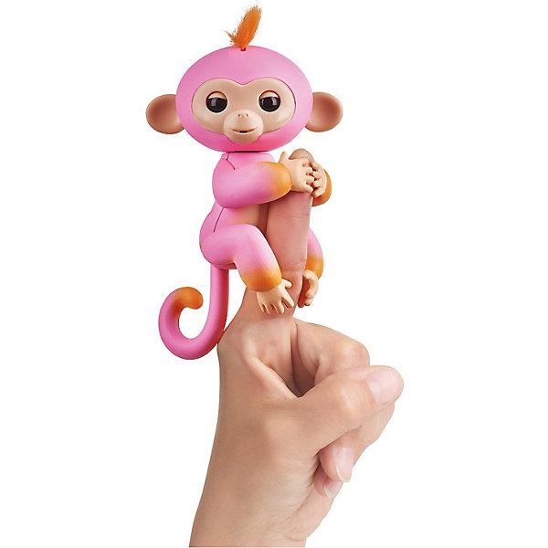 Купить Интерактивная обезьянка Fingerlings Саммер, 12 см (розовая с оранжевым) WowWee, Китай, orange/pink, Унисекс