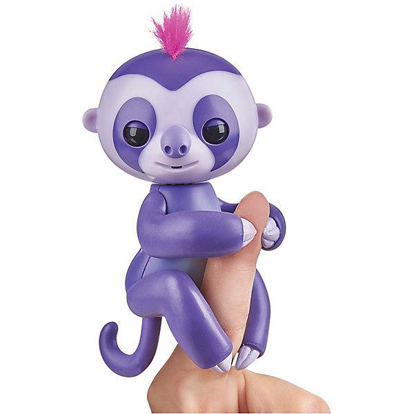 Купить Интерактивный ленивец Fingerlings Мардж, 12 см (пурпурный) WowWee, Китай, розовый, Унисекс