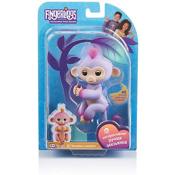 Купить Интерактивная обезьянка Fingerlings Сидней, 12 см (розовая) WowWee, Китай, rosa/pink, Унисекс