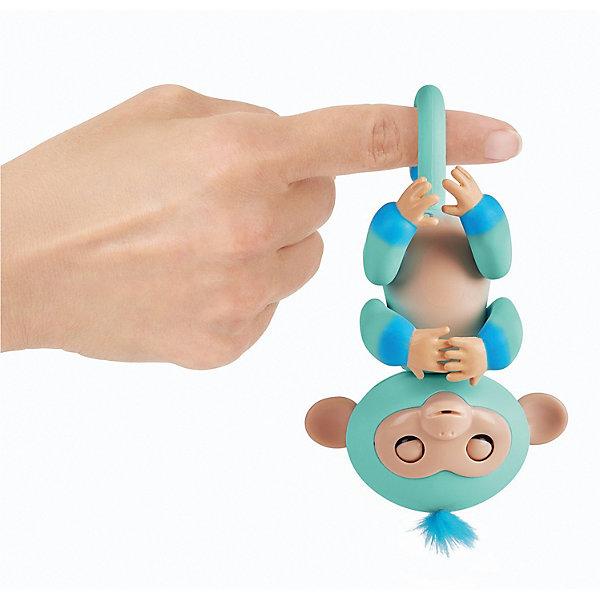Купить Интерактивная обезьянка Fingerlings Эдди, 12 см (голубая) WowWee, Китай, синий, Унисекс