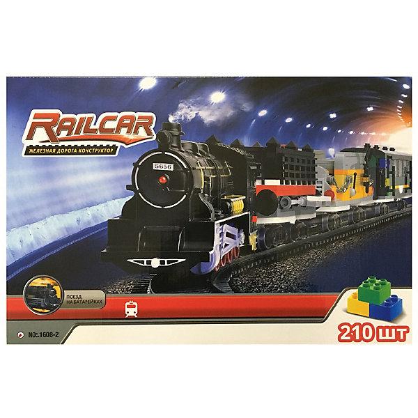 Купить Железная дорога -конструктор с локомотивом Taigen, 210 деталей, Китай, черный, Мужской
