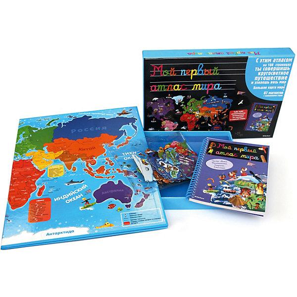 Купить Энциклопедический набор Мой первый атлас мира книга + пазл, Махаон, Китай, Унисекс