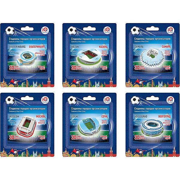 Купить Набор 3D пазлов № 2 IQ-puzzle Малые стадионы , 6 шт., IQ Puzzle, Китай, Унисекс