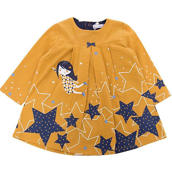Платье Catimini для девочкиПлатья<br>Характеристики товара:<br><br>• цвет: желтый<br>• состав ткани: 100% хлопок<br>• сезон: демисезон<br>• застежка: кнопки<br>• длинные рукава<br>• страна бренда: Франция<br><br>Яркое платье для детей выполнено из качественной натуральной ткани. Хлопковое платье для ребенка от известного бренда Catimini из Франции отличается модным в этом сезоне силуэтом. Это детское платье от Catimini декорировано эффектным принтом, которое делает его оригинальной и стильной вещью. <br><br>Платье Catimini (Катимини) для девочки можно купить в нашем интернет-магазине.<br>Ширина мм: 236; Глубина мм: 16; Высота мм: 184; Вес г: 177; Цвет: желтый; Возраст от месяцев: 6; Возраст до месяцев: 9; Пол: Женский; Возраст: Детский; Размер: 74,71,68,80; SKU: 8273951;