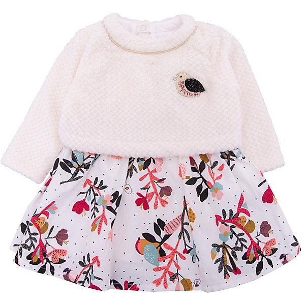 Платье Catimini для девочкиПлатья<br>Характеристики товара:<br><br>• цвет: бежевый<br>• состав ткани: 100% хлопок / 100% полиэстер<br>• сезон: демисезон<br>• застежка: кнопки<br>• длинные рукава<br>• страна бренда: Франция<br><br>Платье для ребенка от популярного французского бренда Catimini сделано из комбинированного материала, в том числе это - дышащий хлопок, который создает комфортные условия для тела. Такое платье для детей отличается оригинальным декором и наличием удобной застежки. Это детское платье с длинным рукавом - отличный вариант одежды для различной погоды. <br><br>Платье Catimini (Катимини) для девочки можно купить в нашем интернет-магазине.<br>Ширина мм: 236; Глубина мм: 16; Высота мм: 184; Вес г: 177; Цвет: разноцветный; Возраст от месяцев: 6; Возраст до месяцев: 9; Пол: Женский; Возраст: Детский; Размер: 74,80,86,68,71; SKU: 8273974;