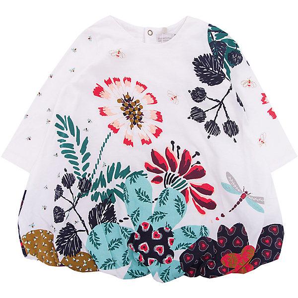 Платье Catimini для девочкиПлатья<br>Характеристики товара:<br><br>• цвет: белый<br>• состав ткани: 100% хлопок<br>• сезон: демисезон<br>• застежка: кнопки<br>• длинные рукава<br>• страна бренда: Франция<br><br>Такое платье для детей выполнено из качественной ткани, которая позволяет телу дышать и не вызывает аллергии. Хлопковое платье для ребенка от известного бренда Catimini из Франции отличается модным в этом сезоне силуэтом и эффектным декором. Это детское платье от Catimini декорировано принтом и бантом, которые делают его оригинальной и стильной вещью. <br><br>Платье Catimini (Катимини) для девочки можно купить в нашем интернет-магазине.<br>Ширина мм: 236; Глубина мм: 16; Высота мм: 184; Вес г: 177; Цвет: разноцветный; Возраст от месяцев: 6; Возраст до месяцев: 9; Пол: Женский; Возраст: Детский; Размер: 74,71,68,98,80; SKU: 8273986;