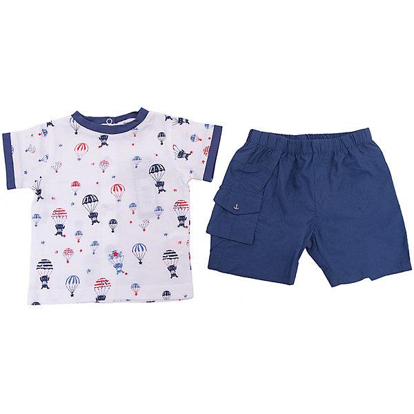 Купить Комплект: футболка, шорты 3 Pommes для мальчика, Индия, синий, 60, 80, 74, 68, 86, Мужской