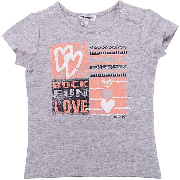 Футболка 3 Pommes для девочкиФутболки, поло и топы<br>Характеристики товара:<br><br>• цвет: серый<br>• состав ткани: 100% хлопок<br>• сезон: лето<br>• застежка: кнопки<br>• короткие рукава<br>• страна бренда: Франция<br><br>Серая трикотажная футболка для детей стильно смотрится благодаря оригинальному принту. Эта футболка для ребенка от популярного европейского бренда 3 Pommes - универсальная базовая вещь. Материал этой детской футболки - преимущественно легкий натуральный хлопок, который создает комфортные условия для тела. <br><br>Футболку 3 Pommes (3 Поммис) для девочки можно купить в нашем интернет-магазине.<br>Ширина мм: 199; Глубина мм: 10; Высота мм: 161; Вес г: 151; Цвет: разноцветный; Возраст от месяцев: 12; Возраст до месяцев: 15; Пол: Женский; Возраст: Детский; Размер: 80,74,98,86; SKU: 8274107;
