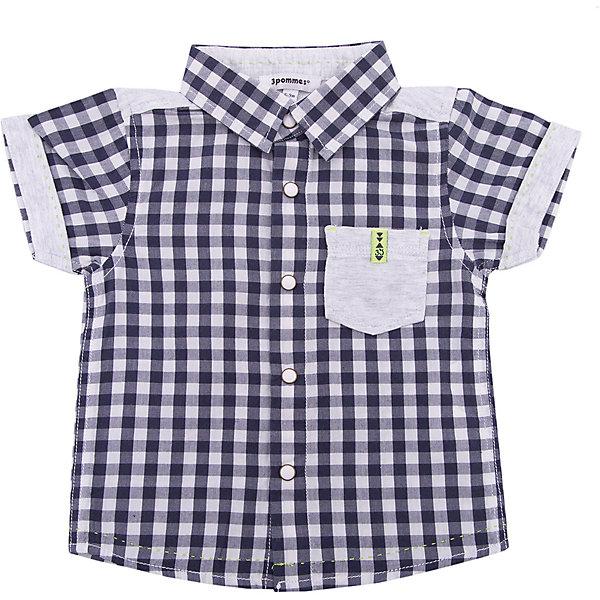 Рубашка 3 Pommes для мальчикаТолстовки, свитера, кардиганы<br>Характеристики товара:<br><br>• цвет: серый<br>• состав ткани: 100% хлопок<br>• сезон: лето<br>• застежка: пуговицы<br>• короткие рукава<br>• страна бренда: Франция<br><br>Клетчатая детская рубашка сделана из натурального материала - дышащего хлопка. Рубашка для ребенка от французского бренда 3 Pommes отличается классическим силуэтом и карманом на груди. Эта рубашку для детей стильно смотрится благодаря комбинации различных материалов. <br><br>Рубашку 3 Pommes (3 Поммис) для мальчика можно купить в нашем интернет-магазине.<br>Ширина мм: 174; Глубина мм: 10; Высота мм: 169; Вес г: 157; Цвет: серый; Возраст от месяцев: 6; Возраст до месяцев: 9; Пол: Мужской; Возраст: Детский; Размер: 74,80,92,86; SKU: 8274120;