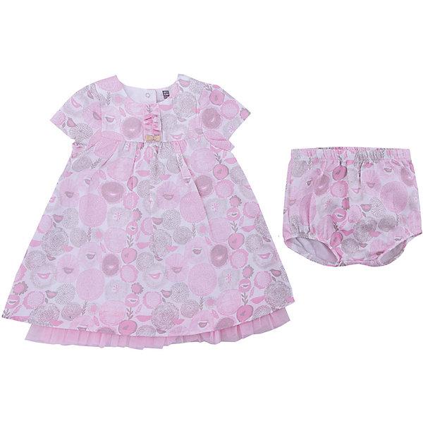 Купить Комплект: платье, трусики 3 Pommes для девочки, Тунис, розовый, 68, 55-61, 86, 80, 74, Женский