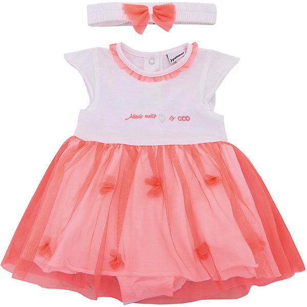 Купить Комплект: платье, боди 3 Pommes для девочки, Индия, розовый, 74, 60, 80, 68, Женский