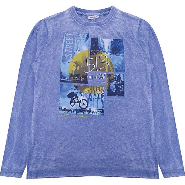 Футболка с длинным рукавом 3 Pommes для мальчикаФутболки с длинным рукавом<br>Характеристики товара:<br><br>• цвет: синий<br>• состав ткани: 66% полиэстер, 34% хлопок<br>• сезон: демисезон<br>• длинные рукава<br>• страна бренда: Франция<br><br>Модная футболка с длинным рукавом для ребенка разработана дизайнерами французского бренда 3 Pommes, который выпускает стильную и качественную детскую одежду. Лонгслив для детей отличается эффектным принтом. Оригинальный лонгслив для ребенка хорошо садится по фигуре. Этот детский лонгслив сделан из качественного материала, который приятен на ощупь прост в уходе. <br><br>Лонгслив 3 Pommes (3 Поммис) для мальчика можно купить в нашем интернет-магазине.<br>Ширина мм: 230; Глубина мм: 40; Высота мм: 220; Вес г: 250; Цвет: голубой; Возраст от месяцев: 132; Возраст до месяцев: 144; Пол: Мужской; Возраст: Детский; Размер: 152,140,116,110,104; SKU: 8274362;