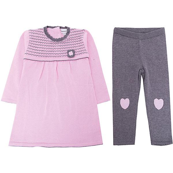 Комплект: платье, леггинсы 3 Pommes для девочкиКомплекты<br>Характеристики товара:<br><br>• цвет: розовый<br>• комплектация: платье, леггинсы <br>• состав ткани: 100% хлопок <br>• сезон: демисезон<br>• застежка: пуговицы<br>• длинные рукава<br>• талия: резинка<br>• страна бренда: Франция<br><br>Удобный вязаный детский комплект - отличный вариант одежды для холодной погоды. Такое платье для детей отличается оригинальным декором в виде вязаных цветов и наличием удобной застежки сзади. Это детское платье отлично сочетается с однотонными леггинсами. Вязаное платье и леггинсы для ребенка от популярного французского бренда 3 Pommes сделаны из натурального материала, это - дышащий хлопок, который создает комфортные условия для тела. <br><br>Комплект: платье, леггинсы 3 Pommes (3 Поммис) для девочки можно купить в нашем интернет-магазине.<br>Ширина мм: 236; Глубина мм: 16; Высота мм: 184; Вес г: 177; Цвет: розовый; Возраст от месяцев: 12; Возраст до месяцев: 18; Пол: Женский; Возраст: Детский; Размер: 86,80; SKU: 8274523;
