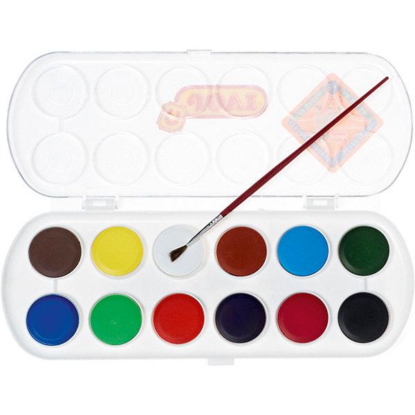 Акварель JOVI, 12 цветовРисование и лепка<br>Характеристики:<br><br>• возраст: от 3 лет;<br>• в комплекте: таблетки 12 цветов, кисть; <br>• количество цветов: 12;<br>• размер упаковки: 24х9,6х1,3 см;<br>• вес в упаковке: 136 гр.;<br>• упаковка товара: пластиковая коробка; <br>• страна бренда: Испания.<br><br>Акварель JOVI (Джови) могут использоваться для рисования на различных поверхностях: бумаге, картоне, для раскрашивания фигурок из пасты для лепки. При добавлении небольшого количества воды цвета получаются очень насыщенными и яркими.<br><br>Акварель JOVI (Джови), 12 цветов можно купить в нашем интернет-магазине.<br>Ширина мм: 240; Глубина мм: 96; Высота мм: 13; Вес г: 136; Возраст от месяцев: 36; Возраст до месяцев: 2147483647; Пол: Унисекс; Возраст: Детский; SKU: 8276436;