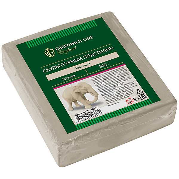 Скульптурный пластилин Greenwich Line, телесныйПластилин<br>Характеристики:<br><br>• возраст: от 3 лет;<br>• тип: пластилин скульптурный;<br>• цвет: телесный;<br>• общая масса пластилина: 500 гр.;<br>• плотность: твердый;<br>• упаковка товара: полиэтиленовый рукав;<br>• размер упаковки: 10,2х11,3х0,30 см;<br>• вес упаковки: 550 гр.;<br>• страна бренда: Великобритания.<br><br>Скульптурный пластилин Greenwich Line (Гринвич Лайн) предназначен для создания предметов интерьера, аппликаций и картин. Не имеет запаха, не токсичен. Пластилин держит форму, устойчив к перепадам температуры, не оставляет пятен и не липнет к рукам.<br><br>Скульптурный пластилин Greenwich Line (Гринвич Лайн), телесный можно купить в нашем интернет-магазине.<br>Ширина мм: 102; Глубина мм: 113; Высота мм: 30; Вес г: 1100; Возраст от месяцев: 36; Возраст до месяцев: 2147483647; Пол: Унисекс; Возраст: Детский; SKU: 8276442;