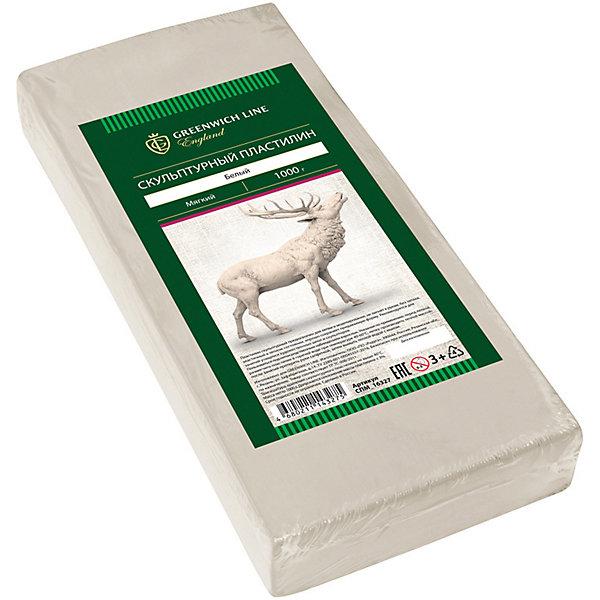 Скульптурный пластилин Greenwich Line, белыйРисование и лепка<br>Характеристики:<br><br>• возраст: от 3 лет;<br>• тип: пластилин скульптурный;<br>• цвет: белый;<br>• общая масса пластилина: 1 кг;<br>• плотность: мягкий;<br>• упаковка товара: полиэтиленовый рукав;<br>• размер упаковки:  11х0,8х0,03 см;<br>• вес упаковки: 1,180 кг;<br>• страна бренда: Великобритания.<br><br>Скульптурный пластилин Greenwich Line (Гринвич Лайн) предназначен для создания предметов интерьера, аппликаций и картин. Не имеет запаха, не токсичен. Пластилин держит форму, устойчив к перепадам температуры, не оставляет пятен и не липнет к рукам.<br><br>Скульптурный пластилин Greenwich Line (Гринвич Лайн), белый можно купить в нашем интернет-магазине.<br>Ширина мм: 110; Глубина мм: 80; Высота мм: 30; Вес г: 1180; Возраст от месяцев: 36; Возраст до месяцев: 2147483647; Пол: Унисекс; Возраст: Детский; SKU: 8276598;