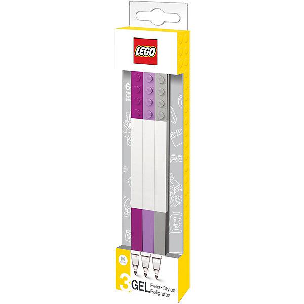 Набор ручек (3 шт.).Гелевые<br>Характеристики:<br><br>• возраст: от 3 лет;<br>• материал: пластик;<br>• количество ручек в наборе: 3;<br>• размер упаковки: 18х5х2 см;<br>• вес: 50 гр.<br><br>Набор гелевых ручек из уникальной коллекции канцелярских принадлежностей LEGO состоит из 3-х ручек с чернилами бордового, лилового и серого цветов. Ручка имеет пластиковый корпус с резиновой манжеткой, которая снижает напряжение руки. Ручка обеспечивает легкое и мягкое письмо, чернила быстро высыхают, не размазываются.<br><br>Набор ручек  LEGO можно купить в нашем интернет-магазине.<br>Ширина мм: 48; Глубина мм: 20; Высота мм: 180; Вес г: 36; Цвет: серый; Возраст от месяцев: 36; Возраст до месяцев: 2147483647; Пол: Унисекс; Возраст: Детский; SKU: 8287541;