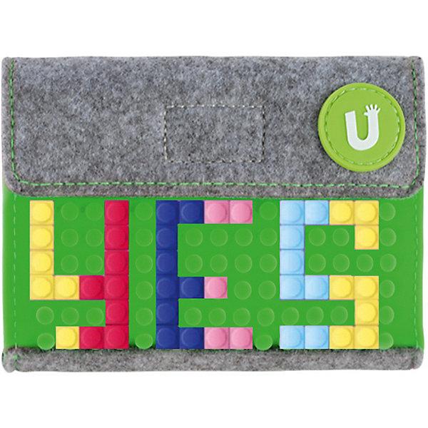 Пиксельный кошелек Pixel felt small wallet WY-B007 Зеленый Upixel