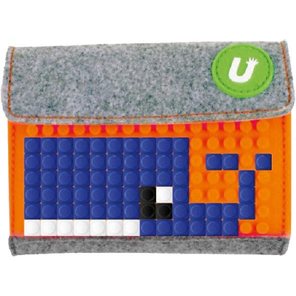Пиксельный кошелек Pixel felt small wallet WY-B007 Светло-оранжевый Upixel