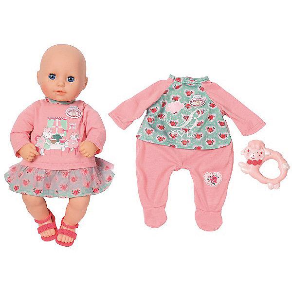 Игрушка my first Baby Annabell Кукла с набором одежды, 36 смКуклы<br>Характеристики:<br><br>• возраст: от 3 лет<br>• в наборе: кукла, платье, комбинезон, сандалии, погремушка<br>• высота куклы: 36 см.<br>• глаза у куклы закрываются<br>• материал: пластик, текстиль<br><br>Очаровательная кукла-младенец Бэби Аннабель выглядит как настоящий ребенок. У нее розовые щечки, пухлые губки и большие голубые глазки. Тело у куклы мягконабивное, подвижные голова, ручки и ножки выполнены из мягкого качественного пластика. Глаза открываются и закрываются.<br><br>Кукла одета в платье с пышной юбочкой и длинными рукавами. На платье яркий рисунок с изображением овечек, которые утроили веселое чаепитие. Юбочка мятного цвета украшена цветочным принтом и фатином. А для завершения образа в комплекте к наряду идут стильные босоножки.<br><br>Куколку можно переодеть, в комплекте с ней предусмотрен дополнительный наряд в виде удобного комбинезона в нежно-розовом цвете со светло-салатовой верхней частью, украшенной цветочным принтом и овечкой.<br><br>Чтобы Бэби Аннабель «не плакала», ее можно успокоить забавной погремушкой в виде барашка.<br><br>Кукла Бэби Аннабель станет главной героиней сюжетных игр ребёнка, помогая развивать фантазию и воображение.<br><br>Игрушку my first Baby Annabell Кукла с набором одежды, 36 см можно купить в нашем интернет-магазине.<br>Ширина мм: 280; Глубина мм: 140; Высота мм: 360; Вес г: 1425; Возраст от месяцев: 36; Возраст до месяцев: 1188; Пол: Женский; Возраст: Детский; SKU: 8291451;