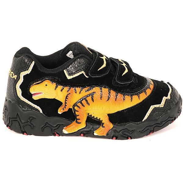 Кроссовки Dinosoles для мальчикаКроссовки<br>Кроссовки Dinosoles для мальчика<br>Детские кроссовки из натуральной кожи со стилизованной подошвой в виде следа динозавра, светодиоды, рельефная резиновая аппликация динозавра<br>Состав:<br>верх: натуральная кожа/замша, подклад: текстиль, подошва: резина<br>Ширина мм: 250; Глубина мм: 150; Высота мм: 150; Вес г: 250; Цвет: черный; Возраст от месяцев: 36; Возраст до месяцев: 48; Пол: Мужской; Возраст: Детский; Размер: 33,32,31,30,29,27,28; SKU: 8297978;