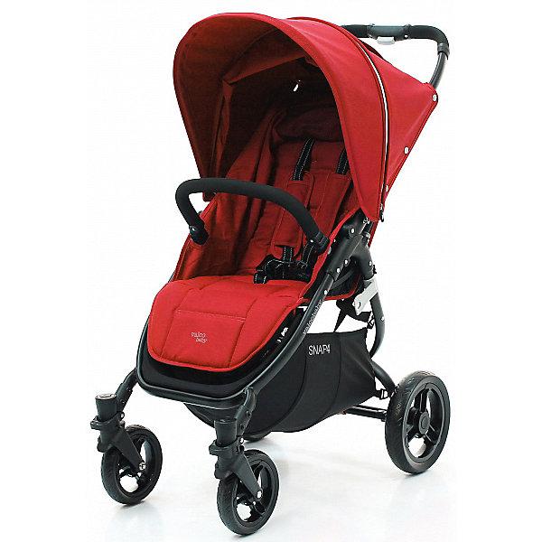 Прогулочная коляска Valco baby Snap 4 / Fire redПрогулочные коляски<br>Прогулочная четырехколесная коляска Valco baby Snap 4 современного дизайна с тканью премиум качества,  станет верной помощницей на несколько лет.<br>• Snap 4 — это ультралегкая и суперкомпактная коляска, которая складывается одной рукой простым нажатием на кнопку, расположенную на ручке.<br>• Snap 4 подходит для новорожденных благодаря регулируемой до лежачего положения спинке с жестким каркасом.<br>• Внутренняя часть сиденья коляски Valco Baby Snap 4 не контактирует с внешней стороной в сложенном состоянии, а это означает, что коляска останется чистой дольше.<br>• Автоматическая фиксация коляски в сложенном виде, удобная ручка и плечевой ремень для переноски.<br>• Капор коляски Snap 4 имеет дополнительный сектор, расширующийся при помощи молнии.<br>• Мягкие резиновые бескамерные колеса, устойчивые к проколам.<br>• Легкосъемные колеса для удобства чистки, транспортировки или хранения.<br>• Очень широкое и вместительное сиденье, комфортное для малыша, с пятиточечными ремнями безопасности.<br>• Регулируемая до лежачего положения спинка (ременной механизм).<br>• Съемный бампер отстегивается с одной стороны для легкого доступа ребенка в коляску или снимается совсем.<br>• Смотровое окошко Peek-a-Boo«для наблюдения за спящим малышом.<br>• Расширяющийся на молнии капюшон «Expanda» защитит ребенка от солнца или ветра.<br>• Надежный ножной тормоз (снять с тормоза можно подошвой, не пачкая обувь). <br>• Диаметр колес 16 и 26 см<br>• Самостоятельно стоит в сложенном виде. <br>• Возможность установки автокресла при помощи Адаптера Maxi Cosi / Snap &amp; Snap 4.<br>• Snap4 cсовместима с аксессуарами (в комплект не входят):  <br>• Вкладыш Valco baby All Sorts Seat Pad<br>• Дождевик Valco baby Raincover / Snap &amp; Snap 4<br>• Комплект надувных колес Valco Baby Sport Pack для Snap 4<br>• Москитная сетка Valco baby Mirror mesh / Snap &amp; Snap 4 &amp; Snap 4 Ultra<br>• Накидка на ножки Valco baby Boot Cover / 