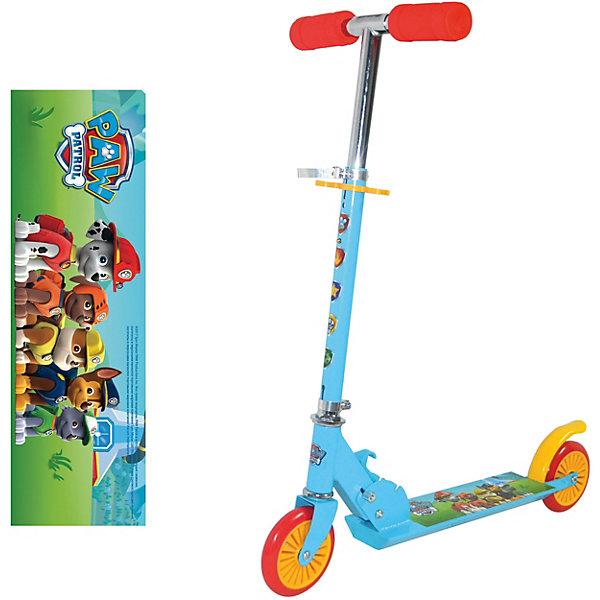 Двухколёсный самокат Navigator Щенячий патруль, голубойСамокаты<br>Характеристики:<br><br>• возраст: от 3 лет;<br>• материал: пластик, металл;<br>• максимальная нагрузка: 50 кг.;<br>• регулируемая высота руля: да;<br>• тормоз: ножной;<br>• диаметр колес: 12,5 см;<br>• подшипники: ABEC-7;<br>• ширина деки: 9,5 см;<br>• вес упаковки: 2,2 кг.;<br>• размер упаковки: 60х20х10 см;<br>• страна бренда: Россия.<br><br>Самокат Navigator «Щенячий патруль» оформлен принтами героев одноименного мультфильма. Легким самокатом удобно управлять ребенку, нужно только оттолкнуться от земли ногами и удерживать равновесие во время езды. Заднее крыло защитит ребенка от брызг при катании. Самокат имеет разборную конструкцию. Сделан из прочных качественных материалов.<br><br>Самокат Navigator «Щенячий патруль» можно купить в нашем интернет-магазине.<br>Ширина мм: 600; Глубина мм: 200; Высота мм: 100; Вес г: 2242; Цвет: голубой; Возраст от месяцев: 60; Возраст до месяцев: 2147483647; Пол: Унисекс; Возраст: Детский; SKU: 8300914;