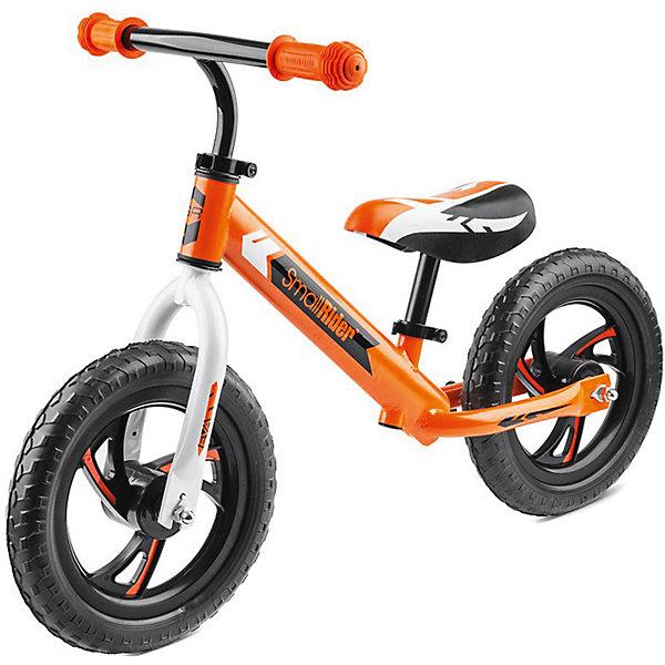 Беговел Small Rider «Roadster EVA», оранжевыйБеговелы<br>Характеристики:<br><br>• возраст: от 2 лет;<br>• цвет: оранжевый;<br>• максимальная нагрузка: 40 кг;<br>• сиденье: мягкое;<br>• материал рамы: алюминий;<br>• материал шин: ПВХ;<br>• тип шин: цельные;<br>• диаметр колес: 12 мм;<br>• диски: пластиковые;<br>• ручки: резиновые;<br>• ширина ручки: 41см;<br>• максимальная высота руля: 59 см;<br>• минимальная высота от пола 30 см;<br>• максимальная высота от пола: 42 см;<br>• сиденье и руль регулируется без инструмента;<br>• габариты упакоуки: 69х15х30 см;<br>• вес: 2,9 кг;<br>• страна бренда: Россия.<br> <br>Беговел Small Rider «Roadster EVA» (Смолл Райдер Родстер ЭВА) создан для того, чтобы малыши с самого малого возраста развивали свои ножки, координацию движений и учился держать равновесие. Сиденье и руль без труда можно отрегулировать под ребенка. Колеса сделаны из специального современного материала, которые не шумят, не прокалываются и не требует подкачки.<br> <br>Беговел Small Rider «Roadster EVA» (Смолл Райдер Родстер ЭВА), оранжевый можно приобрести в нашем интернет-магазине.<br>Ширина мм: 690; Глубина мм: 150; Высота мм: 300; Вес г: 2600; Цвет: оранжевый; Возраст от месяцев: 36; Возраст до месяцев: 60; Пол: Унисекс; Возраст: Детский; SKU: 8302639;