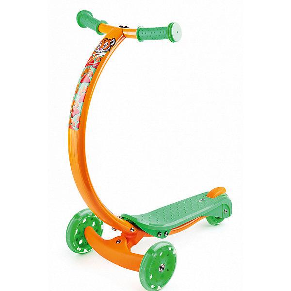 Самокат Zycom «Zipster», тигренокСамокаты<br>Характеристики:<br><br>• возраст: от 2 лет;<br>• рисунок: тигренок;<br>• максимальная нагрузка: 50 кг;<br>• изогнутая ручка;<br>• материал колес: полиуретан;<br>• колеса: все светодиодные;<br>• диаметр колес: перднее 120мм, заднее 90 мм;<br>• тормоз: ножной;<br>• класс подшипника: FBEC 5;<br>• высота ручки от пола: 61 см;<br>• размеры самоката: 61х31х50 см;<br>• вес самоката: 2,1 кг;<br>• размеры упаковки: 54х16х36 см;<br>• вес упаковки: 2,3 кг;<br>• страна бренда: Австралия.<br><br>Самокат Zycom «Zipster» (Зайком Зипстер) имеет изогнутую ручку, что позволяет ребенку кататься с ровной спиной. Также благодаря изогнутой форме коленки не будут задевать руль при катании.<br><br>Самокат поворачивает за счет наклонов, это учит балансировать и развивает чувство равновесия у детей, а также в целях безопасности не дает сделать слишком резкий поворот.<br>Благодаря тому, что ручка сделана из алюминия специальным образом, то самокат имеет малый вес при высокой надежности конструкции.<br><br>Компактный и четкий задний тормоз, позволяющий регулировать скорость катания. Светящиеся колеса сделаны из долговечного материала PU 85A с особо прочными пластиковыми дисками и подшипником ABEC-5, отвечающим за плавное качение. <br><br>Самокат Zycom «Zipster» (Зайком Зипстер), тигренок можно приобрести в нашем интернет-магазине.<br>Ширина мм: 550; Глубина мм: 160; Высота мм: 330; Вес г: 2300; Цвет: разноцветный; Возраст от месяцев: 24; Возраст до месяцев: 48; Пол: Унисекс; Возраст: Детский; SKU: 8302659;