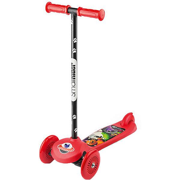 Трехколесный самокат Small Rider «Scooter» Cosmic Zoo, красныйСамокаты<br>Характеристики:<br><br>• возраст: от 2 лет;<br>• цвет: красный;<br>• максимальная нагрузка: 25 кг;<br>• руль: съемный;<br>• подшипник: ABEC 5;<br>• рукоятки: пластик;<br>• высота от пола до ручки: 64 си;<br>• высота от платформы до ручки: 58 см;<br>• длина: 58 см;<br>• ширина колесной базы: 22 см;<br>• задний тормоз;<br>• диаметр колес: 120 мм, ПВХ;<br>• тип шин: цельные;<br>• вес: 1,7 кг;<br>• размеры упаковки: 58х12х25 см;<br>• вес упаковки: 2,1 кг;<br>• страна бренда: Россия.<br><br>Трехколесный самокат Small Rider «Scooter» Cosmic Zoo (Смолл Райдер Скутер) управляется с помощью наклонов, Для того, чтобы сделать поворот, ребенку нужно перенести свой вес в одну из сторон и передние колеса самоката сами повернут в необходимую сторону.<br><br>Самокат достаточно компактен и легок, можно легко отсоединить ручку с рукоятками. Для этого нужно перевернуть самокат, и в основании самоката пальцем отжать «шип», которые удерживает руль. Далее потянуть рулевую колонку на себя, и она легко снимется.<br><br>Трехколесный самокат Small Rider «Scooter» Cosmic Zoo (Смолл Райдер Скутер), красный можно приобрести в нашем интернет-магазине.<br>Ширина мм: 580; Глубина мм: 120; Высота мм: 250; Вес г: 2100; Цвет: красный; Возраст от месяцев: 24; Возраст до месяцев: 48; Пол: Унисекс; Возраст: Детский; SKU: 8302697;
