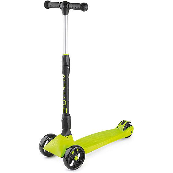Трехколесный самокат Zycom «Zinger Maxi XL», черный лаймСамокаты<br>Характеристики:<br><br>• возраст: от 3 лет;<br>• цвет: черный лайм;<br>• максимальная нагрузка: 80 кг;<br>• диаметр колес: передние 125 мм, заднее 80 мм;<br>• материал колес: полиуретан;<br>• тормоз: ножной;<br>• класс подшипника: FBEC 7;<br>• размер деки: ширина 13 см, длина 60 см;<br>• высота руля: регулируемая 55-87 см;<br>• складной;<br>• вес самоката: 3.3 кг;<br>• размеры упаковки: 60х18х27 см;<br>• вес упаковки: 3,7 кг.<br><br>Трехколесный самокат Zycom «Zinger Maxi XL» (Зайком Зингер Макси Икс-эль) имеет несколько положений ручки с максимальной высотой 87 см, он будет комфортен и для ребенка, и даже для подростка!<br><br>Для удобства управления самокатом и получения больших ощущений при гонке он спроектирован так, что повороты на нем осуществляются с помощью наклонов.<br><br>Складная и регулируемая по высоте ручка. Диски колес сделаны из очень прочного пластика, благодаря чему выдерживают большой вес и не трескаются.  установлен большой задний тормоз.<br><br>Трехколесный самокат Zycom «Zinger Maxi XL» (Зайком Зингер Макси Икс-эль), черный лайм можно приобрести в нашем интернет-магазине.<br>Ширина мм: 600; Глубина мм: 180; Высота мм: 270; Вес г: 3700; Цвет: черный; Возраст от месяцев: 36; Возраст до месяцев: 120; Пол: Унисекс; Возраст: Детский; SKU: 8302711;