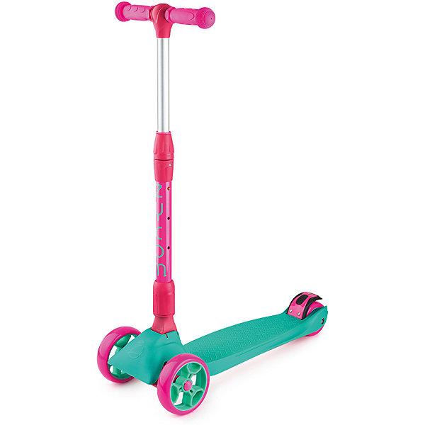 Трехколесный самокат Zycom «Zinger Maxi XL», бирюзово-розовыйСамокаты<br>Характеристики:<br><br>• возраст: от 3 лет;<br>• цвет: бирюзово-розовый;<br>• максимальная нагрузка: 80 кг;<br>• диаметр колес: передние 125 мм, заднее 80 мм;<br>• материал колес: полиуретан;<br>• тормоз: ножной;<br>• класс подшипника: FBEC 7;<br>• размер деки: ширина 13 см, длина 60 см;<br>• высота руля: регулируемая 55-87 см;<br>• складной;<br>• вес самоката: 3.3 кг;<br>• размеры упаковки: 60х18х27 см;<br>• вес упаковки: 3,7 кг.<br><br>Трехколесный самокат Zycom «Zinger Maxi XL» (Зайком Зингер Макси Икс-эль) имеет несколько положений ручки с максимальной высотой 87 см, он будет комфортен и для ребенка, и даже для подростка!<br><br>Для удобства управления самокатом и получения больших ощущений при гонке он спроектирован так, что повороты на нем осуществляются с помощью наклонов.<br><br>Складная и регулируемая по высоте ручка. Диски колес сделаны из очень прочного пластика, благодаря чему выдерживают большой вес и не трескаются.  установлен большой задний тормоз.<br><br>Трехколесный самокат Zycom «Zinger Maxi XL»(Зайком Зингер Макси Икс-эль), бирюзово-розовый можно приобрести в нашем интернет-магазине.<br>Ширина мм: 600; Глубина мм: 180; Высота мм: 270; Вес г: 3700; Цвет: розовый; Возраст от месяцев: 36; Возраст до месяцев: 120; Пол: Женский; Возраст: Детский; SKU: 8302733;