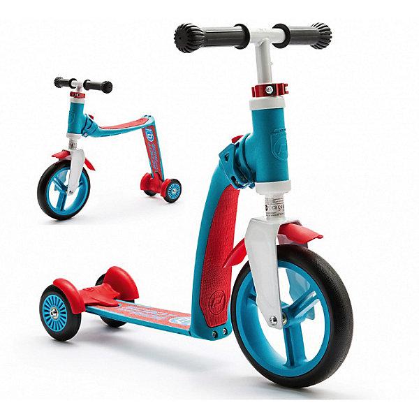 Трехколесный самокат-трансформер Scoot&amp;Ride «Highway Baby Plus», сине-красныйСамокаты<br>Характеристики:<br><br>• возраст: от 1,5 лет;<br>• цвет: сине-красный;<br>• максимальная нагрузка: 35 кг;<br>• сиденье имеет мягкую подкладку из кожзам;<br>• материал рамы: пластик;<br>• задний тормоз и подкрылки;<br>• материал шин: каучук;<br>• тип шин: цельные;<br>• диаметр колес: переднее 220 мм, задние 120 мм;<br>• регулируемый по высоте руль 50-60 см;<br>• высота сиденья от поверхности 35 см;<br>• размер упаковки: 50х29х15 см;<br>• вес беговела: 3 кг;<br>• страна бренда: Россия.<br><br>Трехколесный самокат-беговел трансформер Scoot&amp;Ride «Highway Baby Plus» (Скут энд Райд Хайвей Бейби Плюс), всего за 2 секунды трансформируется в беговел и обратно благодаря нажатию на простой клапан-кнопочку. Механизм трансформации безопасен и надежен.<br><br>Переднее колесо сделано из полимерного материала, что обеспечивает бесшумность, плавное качение и амортизацию. Кроме того, оно очень устойчивое. Задние 2 колесика - как и у других трехколесных самокатов - сделаны из каучука.<br><br>Трехколесный самокат-беговел трансформер Scoot&amp;Ride «Highway Baby Plus» (Скут энд Райд Хайвей Бейби Плюс), сине-красный можно приобрести в нашем интернет-магазине.<br>Ширина мм: 500; Глубина мм: 350; Высота мм: 150; Вес г: 3000; Цвет: синий; Возраст от месяцев: 24; Возраст до месяцев: 48; Пол: Унисекс; Возраст: Детский; SKU: 8302739;