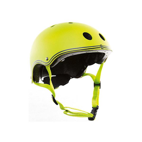 Шлем Globber «Junior», зеленыйЗащитные аксессуары<br>Характеристики:<br><br>• цвет: зеленый;<br>• размер: XXS (48-51см) и XS (51-54 см);<br>• регулируемая застежка;<br>• безопасная вставка внутри шлема;<br>• 11 вентиляционных отверстий;<br>• подходит как для мальчика, так и для девочки.<br>• вес упаковки: 500 гр.;<br>• размеры упаковки: 24х21х14,5 см;<br>• страна бренда: Франция.<br><br>Детские шлемы Globber (Глоббер) созданы для максимальной защиты вашего малыша во время прогулок на самокате. Доступны в 10 расцветках, также доступны 6 тематических расцветок, которые сочетаются с самокатами PRIMO FANTASY (Прайм Фентази).<br><br>Оборудованы регулируемыми кольцами и ремнями, чтобы быстро и легко затянуть шлем для удобного и надёжного прилегания шлема к голове. Все модели с глубоко проложенными, вшитыми вставками в оболочке шлема для максимального комфорта и безопасности. 11 вентиляционных отверстий, распределённых по всему шлему, гарантируют наилучшее проветривание головы во время катания. <br><br>Шлем Globber «Junior» (Глоббер Джуниор) можно купить в нашем интернет-магазине.<br>Ширина мм: 240; Глубина мм: 210; Высота мм: 145; Вес г: 500; Цвет: зеленый; Возраст от месяцев: 18; Возраст до месяцев: 2147483647; Пол: Мужской; Возраст: Детский; SKU: 8304834;
