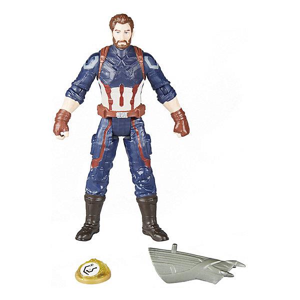 Фигурка Avengers Мстители и камни бесконечности Капитан Америка, 15 смГерои комиксов<br>Характеристики:<br><br>• возраст: от 4 лет;<br>• материал: пластик;<br>• высота фигурки: 15 см;<br>• в наборе: фигурка, аксессуар, камень бесконечности;<br>• вес упаковки: 220 гр.;<br>• размер упаковки: 3,8х16,5х21 см;<br>• страна бренда: США.<br><br>Фигурка Hasbro «Капитан Америка» создана по фильму «Мстители: Война бесконечности». Набор содержит точную копию персонажа с оружием и камень бесконечности. Внешний вид фигурки детально проработан, костюм повторяет образ героя, лицо прорисовано.<br><br>Части тела игрушки подвижны. Фигурка подходит для сюжетных игр и станет ценной частью коллекции предметов по фильму. Сделано из качественных безопасных материалов.<br><br>Фигурку Капитана Америки «Мстители и камни бесконечности», 15 см можно купить в нашем интернет-магазине.<br>Ширина мм: 38; Глубина мм: 165; Высота мм: 210; Вес г: 220; Возраст от месяцев: 48; Возраст до месяцев: 2147483647; Пол: Мужской; Возраст: Детский; SKU: 8306103;
