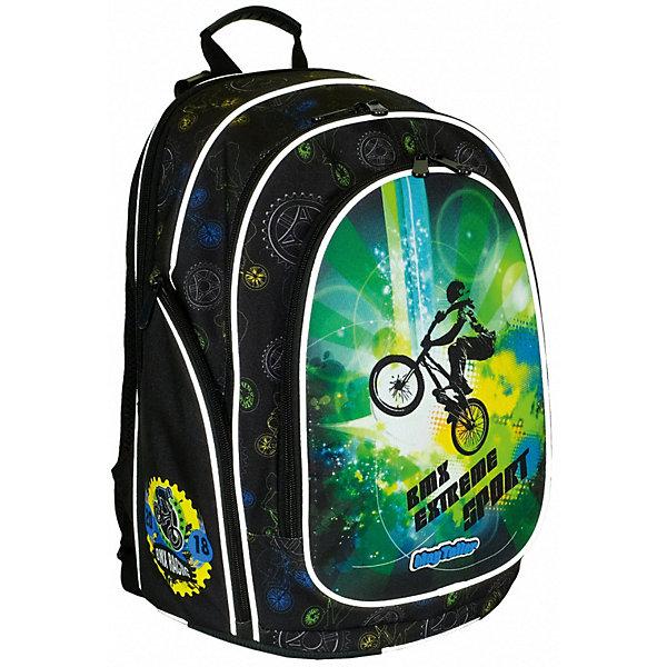Рюкзак Cosmo llI, BMXРюкзаки<br>Характеристики:<br><br>• школьный рюкзак для учеников 5-7 класса;<br>• эргономичная спинка с мягкими подушечками;<br>• спинка усилена рамкой из алюминия;<br>• регулируемые по длине и высоте лямки;<br>• ручка для подвешивания ранца;<br>• светоотражающие элементы;<br>• материал: 600D полиэстер, дно из PVC, пластиковые ножки;<br>• размер ранца: 36х29х18 см;<br>• вес: 850 г.<br><br>Вместительный рюкзак с двумя внутренними отделениями на молнии, органайзером, дополнительными карманами на переднем плане и по бокам, каждый карман застегивается на молнию. Спинка ранца повторяет естественный изгиб позвоночника, равномерно распределяет нагрузку на плечи и вдоль спины. Спинка рюкзака дополнительно усилена рамкой из алюминия. Наличие пластиковых ножек позволяет устойчиво ставить рюкзак в вертикальное положение. <br><br>Рюкзак Cosmo llI, BMX можно купить в нашем интернет-магазине.<br>Ширина мм: 290; Глубина мм: 180; Высота мм: 360; Вес г: 850; Цвет: черный; Возраст от месяцев: 72; Возраст до месяцев: 2147483647; Пол: Мужской; Возраст: Детский; SKU: 8316084;