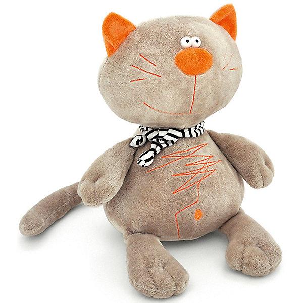 Кот Батон 20 серый (6/42)Мягкие игрушки животные<br>Познакомьтесь – это Кот Батон. Батон не знает – почему его так назвали, да и не задумывается об этом. Так же, как  не задумывается, например, о несовершенстве жизни, потому что она, на самом деле, вполне совершенна, на его взгляд! Главное – не усложнять её ни себе, ни другим, что Батону вполне удаётся, ведь он предпочитает быть весёлым, добрым и милым шалопаем! Этот симпатичный кот всегда с радостью составит вам компанию, но вряд ли поддержит философскую беседу. Зато хорошим шуткам будет очень рад! И самое интересное, что эти самые шутки, вместе с другими замечательными поводами для улыбок, прямо-таки слетаются со всей округи, как будто Батон их притягивает! Впрочем, возможно – так оно и есть! Проверим?<br>Ширина мм: 150; Глубина мм: 130; Высота мм: 290; Вес г: 150; Цвет: серый; Возраст от месяцев: 36; Возраст до месяцев: 168; Пол: Унисекс; Возраст: Детский; SKU: 8316901;