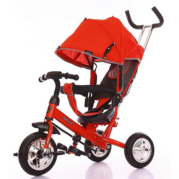 Велосипед Moby Kids3кол. Start 10x8 EVA, красн.Велосипеды и аксессуары<br>Обновлённая базовая модель эконом сегмента - детский велосипед  Start 10х8 EVA от торговой марки Moby Kids . Данную модель обязательно оценят поклонники минимализма - в ней нет ничего лишнего, только самое необходимое. Трёхколёсный велосипед с управляющей ручкой прекрасно подходит для начинающих юных водителей. <br> Характеристики: <br> · Велосипед оснащён двойной телескопической ручкой-толкателем, педалями и складными подножками; <br> · Мягкий вкладыш «кенгуру» в сочетании с высокой спинкой обеспечивают комфортную посадку ребёнка на сиденье; <br> · Складной тент колясочного типа и уровень наклона спинки можно зафиксировать в нескольких положениях; <br> · Модель оборудована ремнём безопасности и разъёмной ограничительной дугой с мягкими, удобными подлокотниками; <br> · Велосипедная рама изготовлена из металла, шины сделаны из прочного материала EVA , обод выполнен из пластика; <br> · Диаметр переднего колеса составляет 25 см (10), диаметр задних колёс - 20 см (8).<br>Ширина мм: 600; Глубина мм: 320; Высота мм: 420; Вес г: 8300; Цвет: красный; Возраст от месяцев: 24; Возраст до месяцев: 24; Пол: Унисекс; Возраст: Детский; SKU: 8317149;