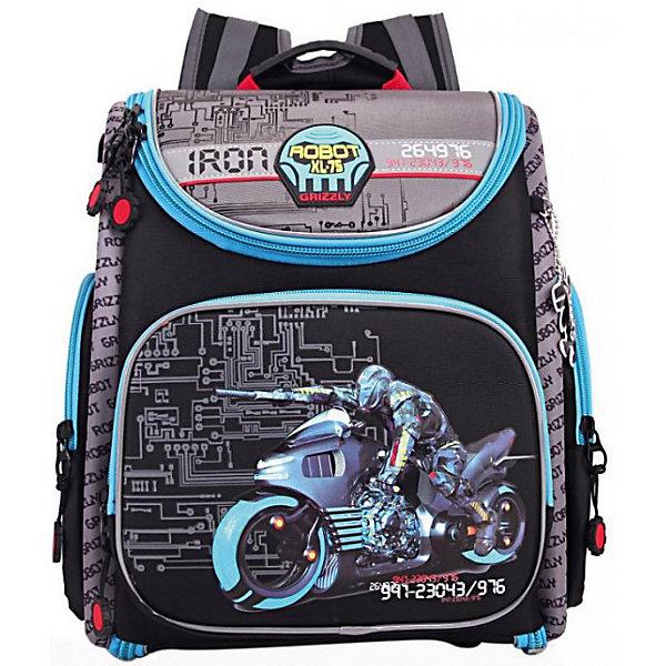 Рюкзак Grizzly, чёрныйРюкзаки<br>Характеристики:<br><br>• молодежный рюкзак;<br>• жесткая анатомическая спинка;<br>• укрепленные лямки;<br>• дополнительная укрепленная ручка;<br>• замок: молния;<br>• полужесткое дно;<br>• вмещает формат А4;<br>• брелок для ключей;<br>• материал: полиэстер;<br>• размер рюкзака: 30х42х19 см;<br>• вес: 850 гр.<br><br>Городской рюкзак Grizzly имеет два отделения, два объемных кармана на молнии на передней стенке, боковые карманы из сетки, внутренний карман,внутренний карман для электронных устройств, внутренний составной пенал-органайзер.<br><br>Grizzly Рюкзак черный можно купить в нашем интернет-магазине.<br>Ширина мм: 340; Глубина мм: 180; Высота мм: 370; Вес г: 1000; Цвет: черный; Возраст от месяцев: 72; Возраст до месяцев: 108; Пол: Мужской; Возраст: Детский; SKU: 8317286;