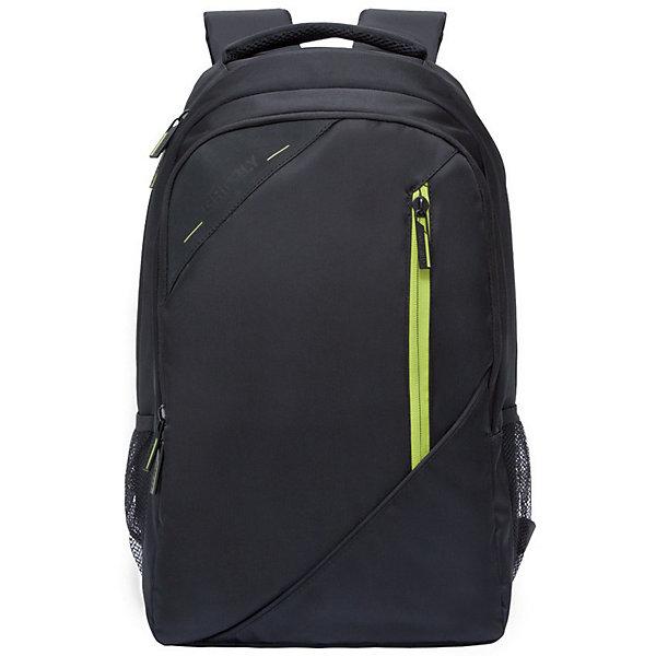 Рюкзак Grizzly, черный/салатовыйРюкзаки<br>Характеристики:<br><br>• молодежный рюкзак;<br>• анатомическая жесткая спинка;<br>• укрепленные лямки;<br>• нагрудная стяжка-фиксатор;<br>• дополнительная ручка-петля;<br>• полужесткое дно;<br>• вмещает формат А4;<br>• материал: полиэстер;<br>• размер рюкзака: 32х45х23 см;<br>• вес: 891 г;<br>• объем: 24 л.<br><br>Городской мужской рюкзак Grizzly имеет два отделения, объемный карман на молнии на передней стенке, боковые карманы из сетки, внутренний карман на молнии, внутренний составной пенал-органайзер, внутренний укрепленный карман для ноутбука, карман быстрого доступа в передней части рюкзака. Карманы застегиваются на молнию. <br><br>Grizzly Рюкзак черный можно купить в нашем интернет-магазине.<br>Ширина мм: 290; Глубина мм: 40; Высота мм: 470; Вес г: 1070; Цвет: schwarz/gr?n; Возраст от месяцев: 120; Возраст до месяцев: 2147483647; Пол: Мужской; Возраст: Детский; SKU: 8317384;